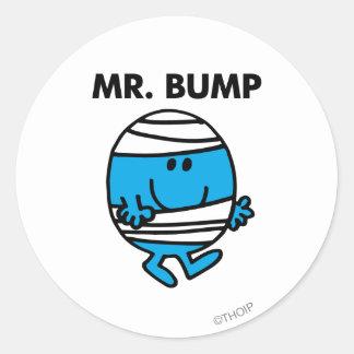 Sr. Bump Classic 1 Pegatina Redonda
