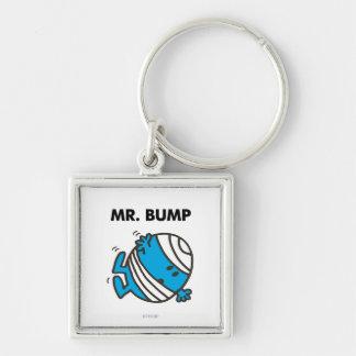 Sr. Bump Classic 3 Llavero Cuadrado Plateado