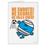 Sr. Bump Playing Soccer Tarjeta De Felicitación