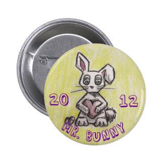 Sr. Bunny 2012 Pin Redondo De 2 Pulgadas