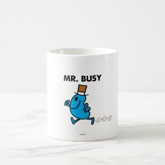 Sr. Busy Running Quickly Taza Básica Blanca