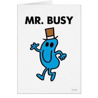 Sr. Busy Waving Hello Tarjeta De Felicitación