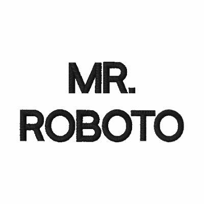 Sr. camiseta bordada ROBOTO