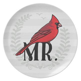 Sr. Cardinal Sr. y señora His y el suyo Plato