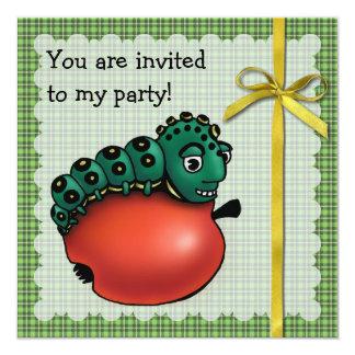 """Sr. Caterpillar Invitación 5.25"""" X 5.25"""""""