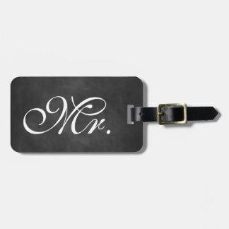 Sr. Chalkboard Luggage Tag Etiquetas Para Maletas