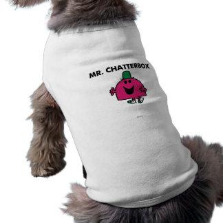 Sr. Chatterbox Waving Hello Playera Sin Mangas Para Perro