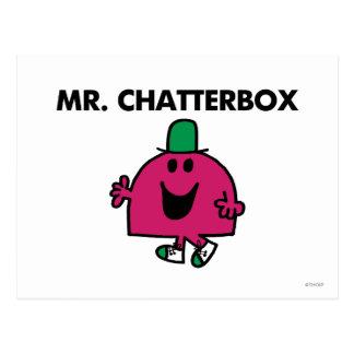 Sr. Chatterbox Waving Hello Postales