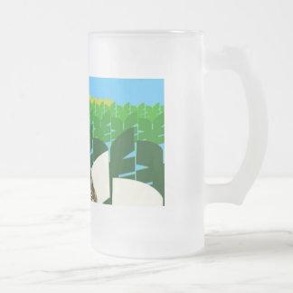 Sr. Cheeky Chappie Glass Mug del Banzai Taza Cristal Mate