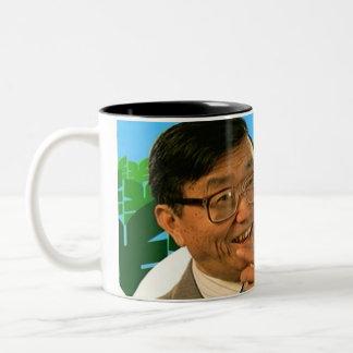 Sr. Cheeky Chappie Mug del Banzai Taza De Café De Dos Colores