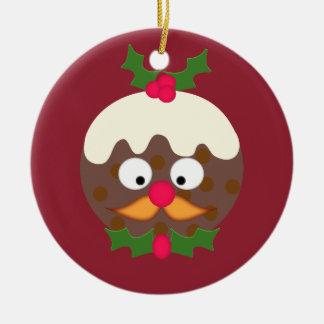 Sr. Christmas Pudding Adorno Redondo De Cerámica