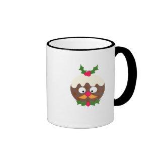 Sr. Christmas Pudding Taza De Dos Colores