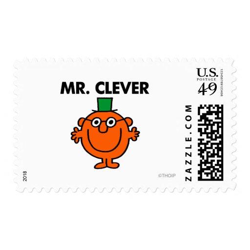 Sr. clásico Clever Logo Franqueo