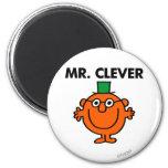 Sr. clásico Clever Logo Imán Redondo 5 Cm