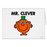 Sr. clásico Clever Logo Tarjeta De Felicitación