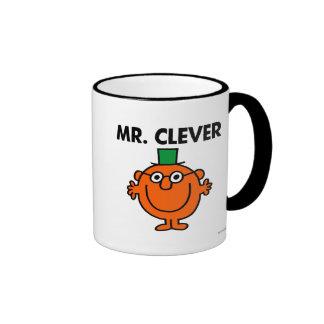 Sr. clásico Clever Logo Taza De Dos Colores