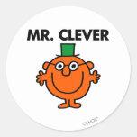 Sr. Clever Classic Etiqueta Redonda