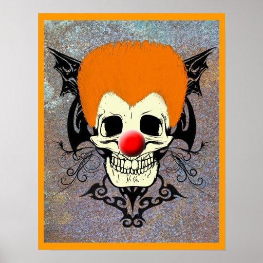 Sr. Clown Orange Hair Póster