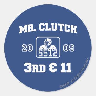 Sr. Clutch Pegatina Redonda