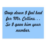 Sr. Collins Postcard Postal
