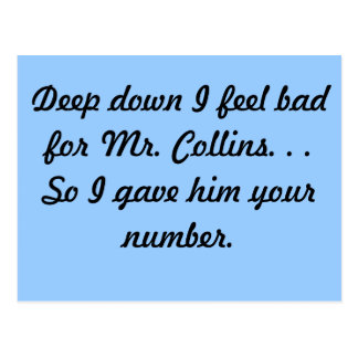 Sr. Collins Postcard Tarjetas Postales