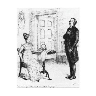 Sr. Collins y Elizabeth Impresión En Lienzo