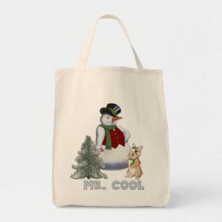 Sr. Cool - muñeco de nieve Bolsa Tela Para La Compra