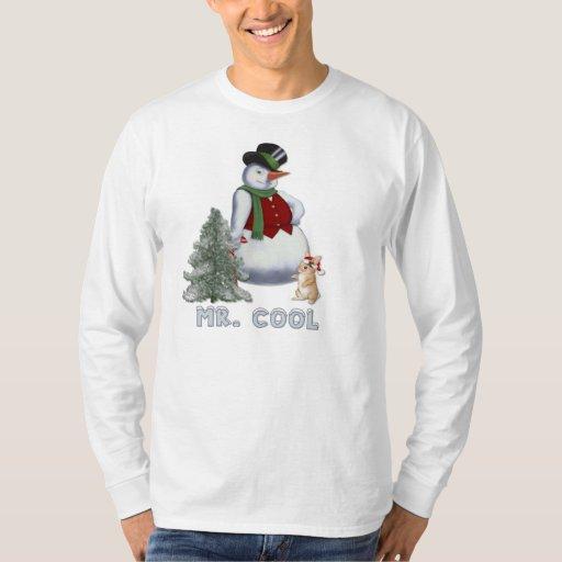 Sr. Cool - muñeco de nieve Poleras
