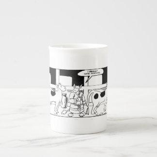 Sr. Cow -- Odio realmente la taza del hueso de lun Taza De Porcelana