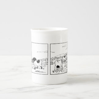 Sr. Cow -- Voy dentro de la taza de la porcelana d Taza De Porcelana