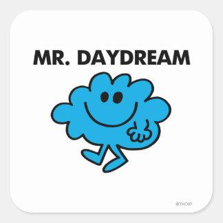 Sr. Daydream Classic Pose Pegatina Cuadrada