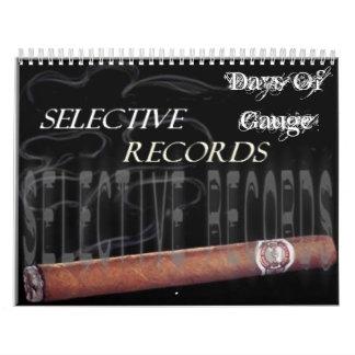 SR, Days Of Gauge Calendar
