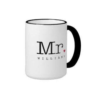 Sr. de encargo taza de café el | negro, blanco, ro