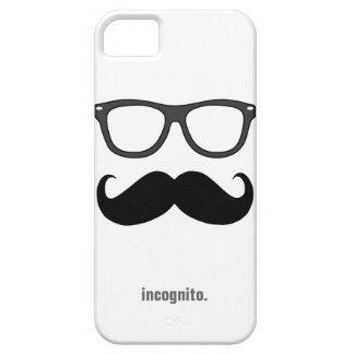 Sr. de incógnito - bigote y vidrios divertidos iPhone 5 Case-Mate cárcasas