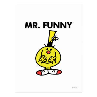 Sr. de risa Funny With Flower Postal
