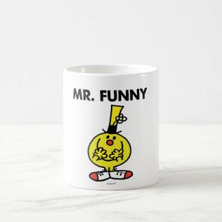 Sr. de risa Funny With Flower Taza Básica Blanca