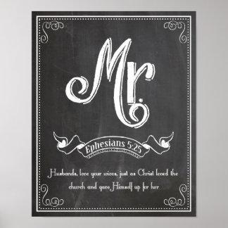 Sr. de Sr. y de la señora 5:25 de Ephesians de la  Posters
