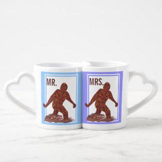 Sr. del personalizado de Bigfoot Sasquatch Yeti Tazas Para Enamorados