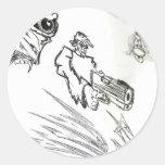 SR Designs artwork Round Sticker