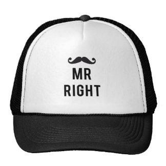 Sr. diseño correcto del texto con el bigote gorra