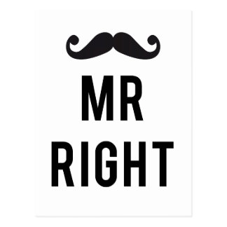 Sr. diseño correcto del texto con el bigote tarjeta postal