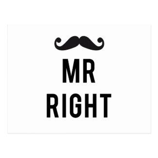 Sr. diseño correcto del texto con el bigote postal