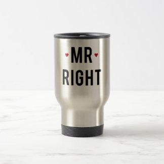 Sr. diseño correcto del texto con los corazones ro taza de viaje de acero inoxidable