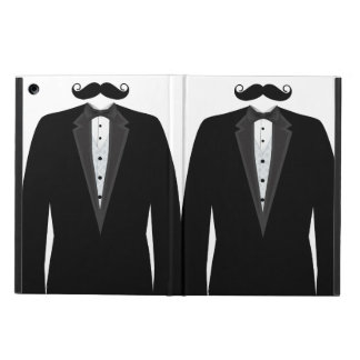 Sr. divertido retro Mustache Tuxedo Groom