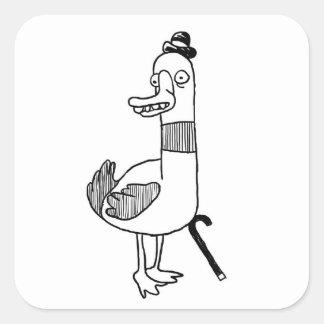 Sr duck calcomania cuadradas personalizadas