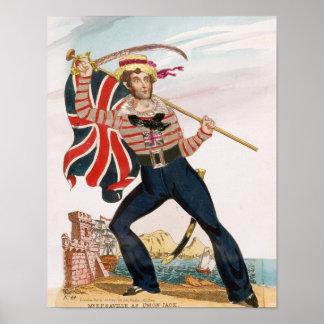 Sr. E.F. Saville como 'Union Jack Póster