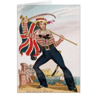 Sr. E.F. Saville como 'Union Jack Tarjeta De Felicitación