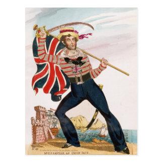 Sr. E.F. Saville como 'Union Jack Tarjetas Postales