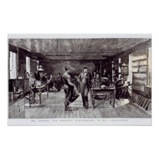 Sr. Edison, el electricista eminente Póster