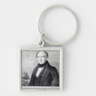Sr. Edward Spencer, litografía por día y Haghe Llavero Cuadrado Plateado